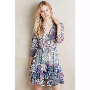 Anthropologie Hiche Ambrose Tiered Elephant Dress
